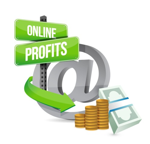 online profits sign concept illustration